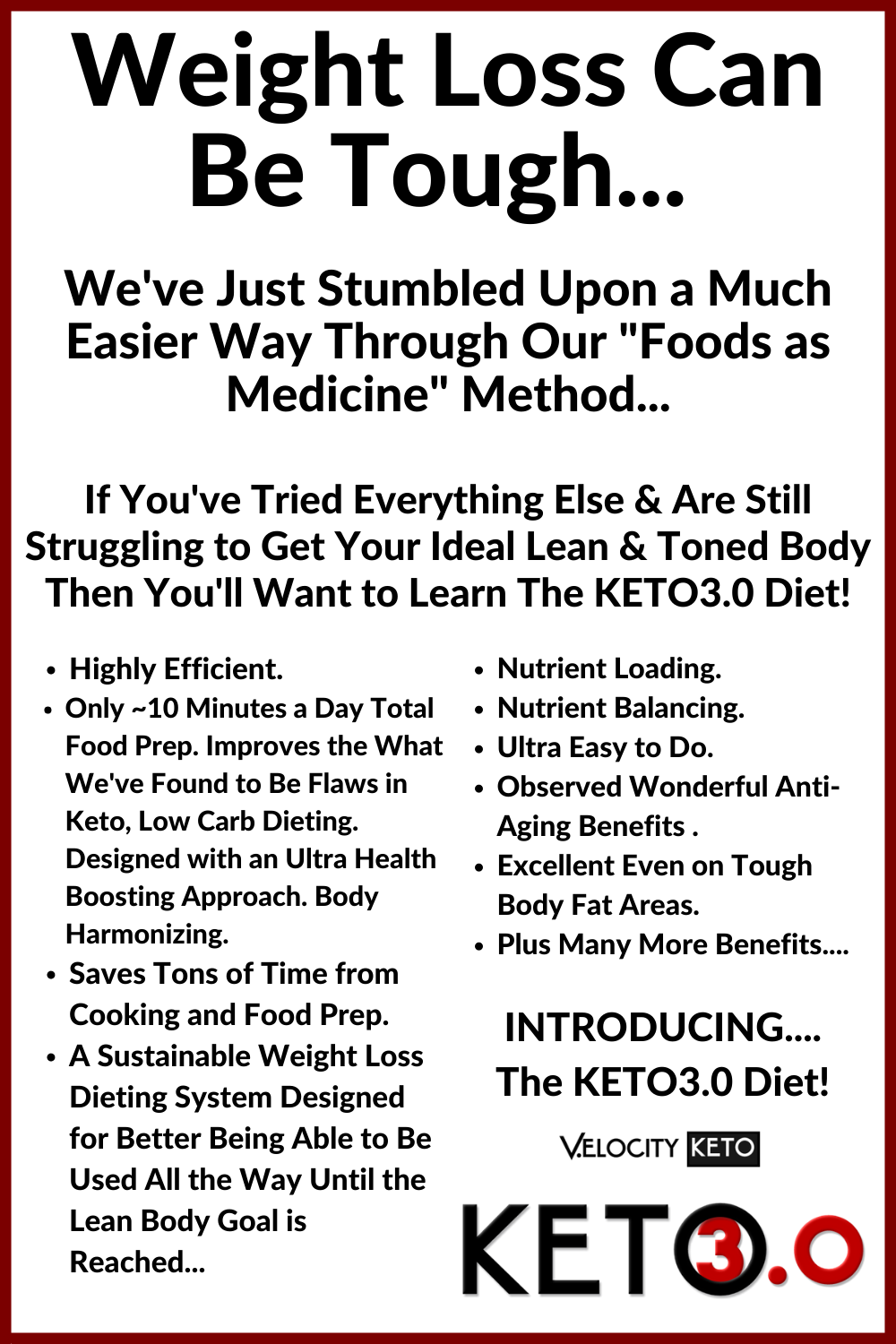 Weight Loss Can Be Tough -KETO3 PINTEREST